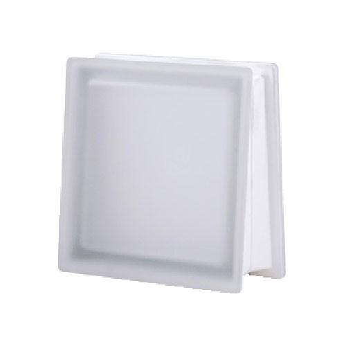 Bloque de vidrio Trapezoidal Satinado 2 lados Neutro 30x30x8/13cm