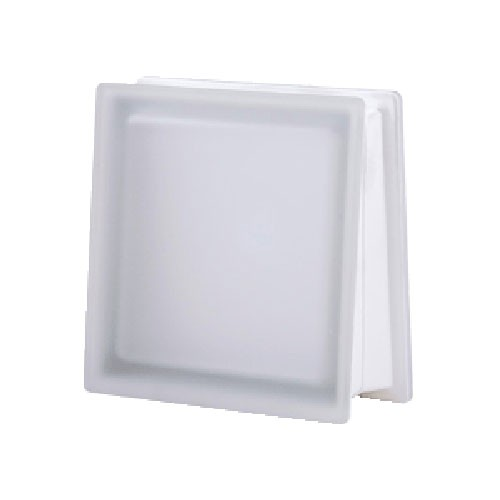 Bloque de vidrio Trapezoidal Satinado Neutro 30x30x8/13cm