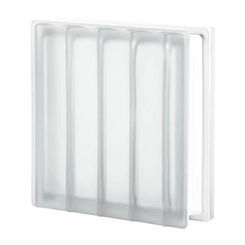 Bloque de vidrio Dórico Líneas Paralelas Satinado 30x30x10cm
