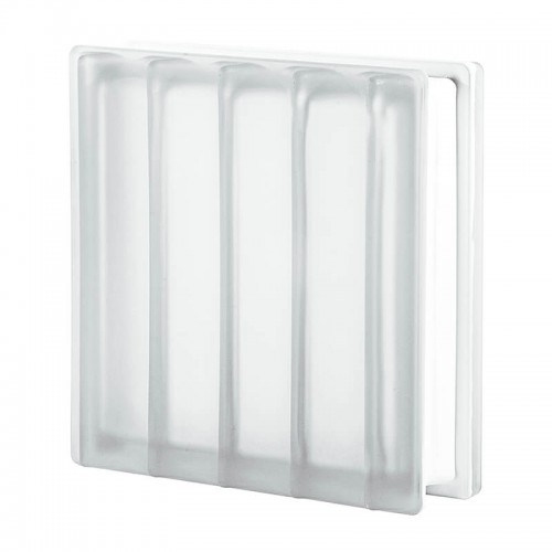 Bloque de vidrio Dórico Líneas Paralelas Satinado 19x19x8cm