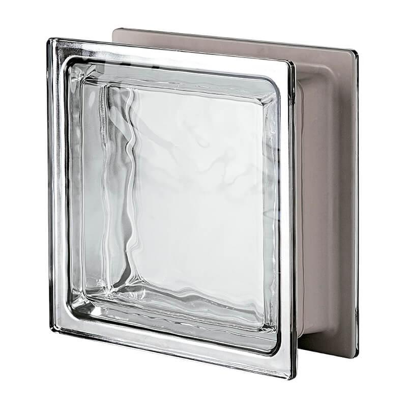 Bloque de vidrio Renzo Piano Metalizado 42x42x12cm
