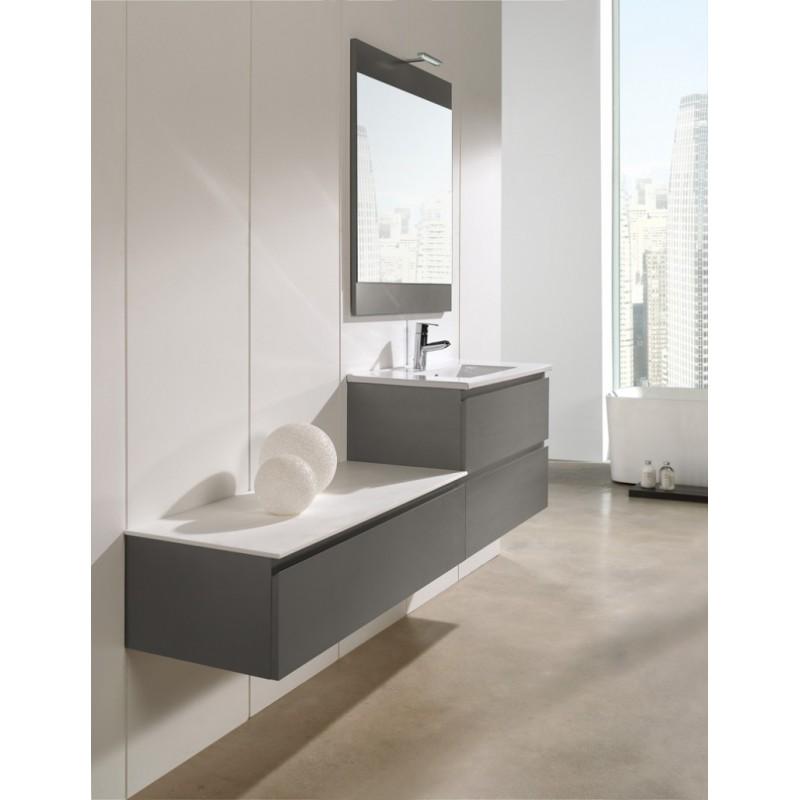 Mueble de baño Naxani serie Belo Gris claro satinado