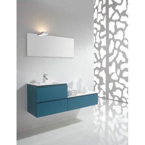 Mueble de baño Naxani serie Belo azul satinado