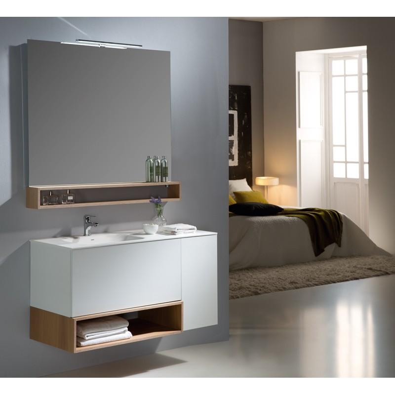 Mueble de baño Naxani serie Boxy blanco satinado