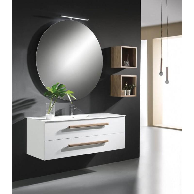 Mueble de baño Naxani serie Elem Blanco Satinado