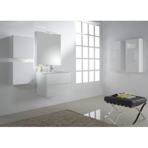 Mueble de baño Naxani serie Kibell blanco brillo