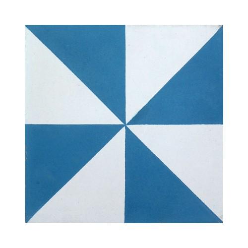 Baldosa Hidráulica 20x20x1,8cm Victoriana Nº 107 azul