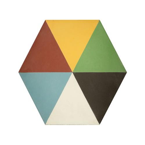 Baldosa Hidráulica 20x11,5cm Hexagonal Nº 1010