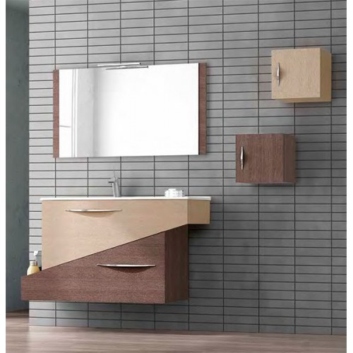 Conjunto mueble de baño 85cm Geometric Othello Segare Natural
