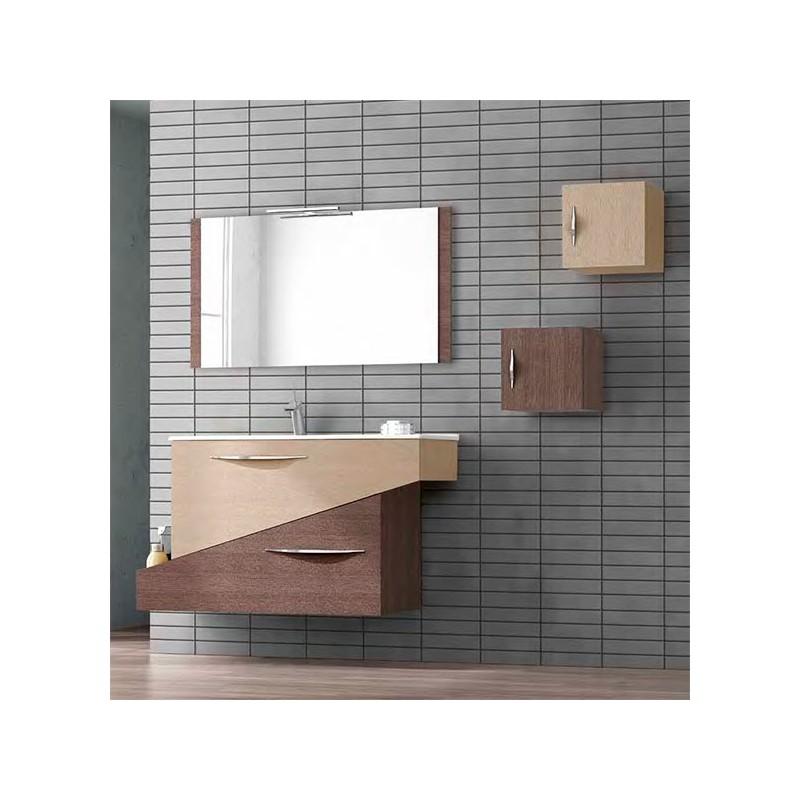 Conjunto mueble de baño 85cm Geometric Othello Segare Natural