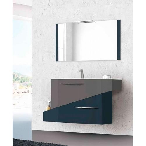 Conjunto mueble de baño 95cm Geometric Gris Marengo y Gris Antracita